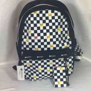 NWT Lesportsac Pikachu Checkers Backpack